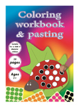 coloring workbook & pasting for kids