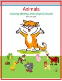 coloring, writing, flashcards, animals, pre-school, kinder