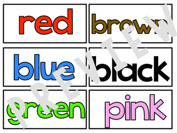 colour words : word wall