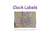 colourful clock labels words and digits