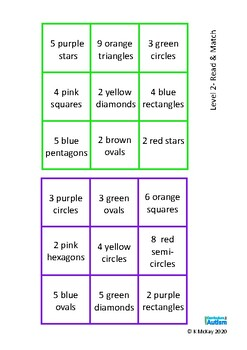 Colors & Shapes Counting Lotto Reading Game, Autism & Special Education