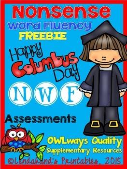 NWF - Nonsense Word Fluency Columbus Day FREEBIE from Ms. Lendahand