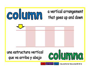 column/columna prim 1-way blue/verde