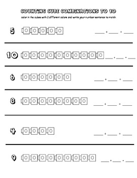 combinations to 10