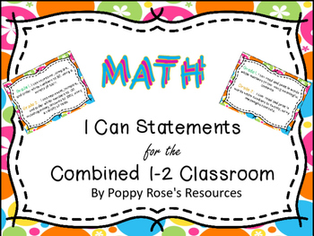 Combined 1-2 Math I Can Statements - Ontario
