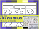 Comic Strip Template for Projects, Dialogue Practice, Creative Writing Center