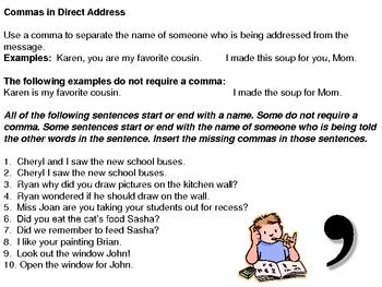 commas in direct address
