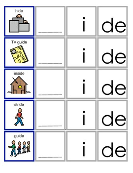 common Core IDE Word Family Activity for Language Arts