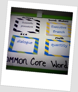 common core second grade word wall cards (all 4 subjects)