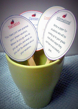 common core writing prompts cards set 3