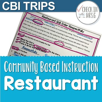 community based instruction trips restaurant