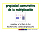 commutative of multiplication/conmutativa de mult prim 2-w
