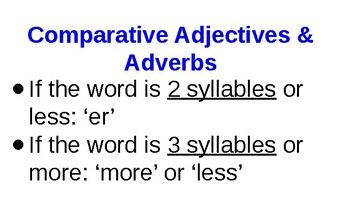 comparative adjectives and adverbs powerpoint