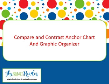 compare and contrast anchor chart graphic organizer