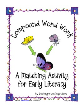 compound word matching activity for early literacy