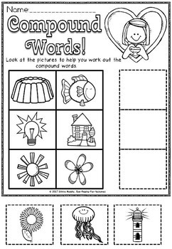 compound words/Grade 2/cut and paste