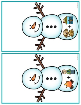 Compound Words Center for January, Snowmen