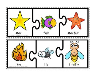 compound words puzzles and clipcards