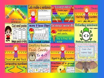 compound words write and cut and paste(free sample)