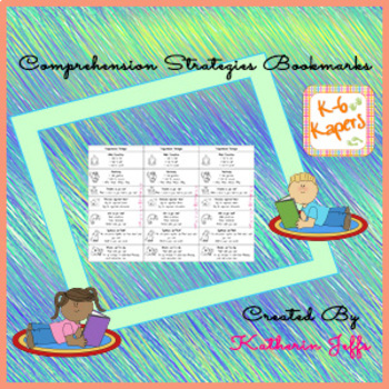 comprehension strategies bookmarks