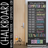 computer lab CHALK - Classroom Decor: LARGE BANNER, You are the Reason