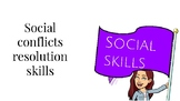 Conflict resolution skills - social skills