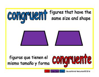 congruent/congruente geom 1-way blue/rojo