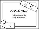 "Conjugating ""Avoir"" Game"