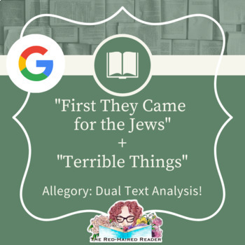 First They Came For The Jews and Terrible Things