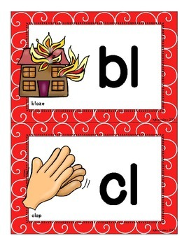 consonant blend flashcards_half page