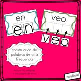 construcion de palabras alta frecuencia (building sight words- spanish)