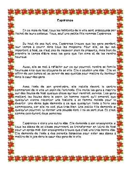 conte de Noël Espérance