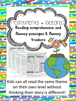 continents and oceans fluency and comprehension leveled passages