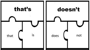contraction puzzle pieces