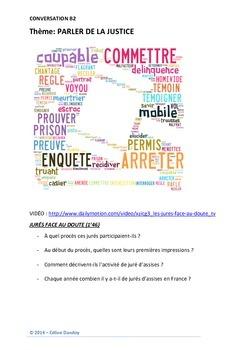 conversation B2 : DEVENIR JURÉ D'ASSISES