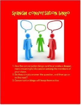 conversation bingo SPANISH