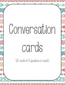 conversation cards with questions