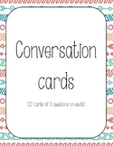 Communication: French conversation cards with questions