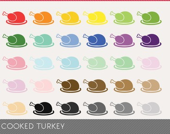 cooked turkey Digital Clipart, cooked turkey Graphics, coo