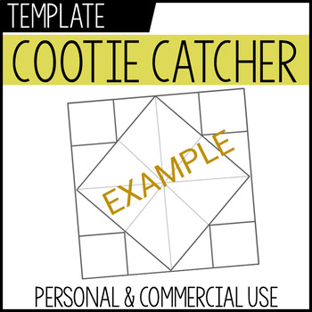 cootie catcher template | personal + commercial use