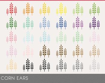 corn ears Digital Clipart, corn ears Graphics, corn ears PNG, Rainbow corn ears