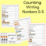 Counting and Writing Numbers 0-10 Practice; 3 pages