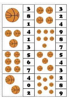 count and clip numbers #1-10