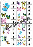 count and clip numbers #1-10 (butterflies theme)