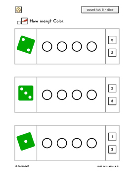 count to 6 - one dice