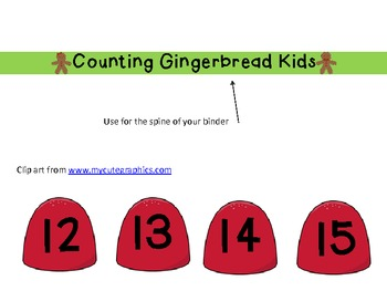 Interactive Counting Gingerbread Kids Notebook