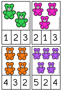 counting bears clip cards(FREE- FREEDBACK CHALLENGE)