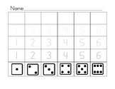 counting dice & writing numbers