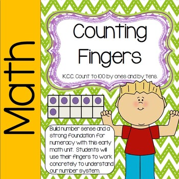 Number Sense Activities- Counting Fingers (counting by one