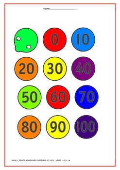 counting in 10's to 100